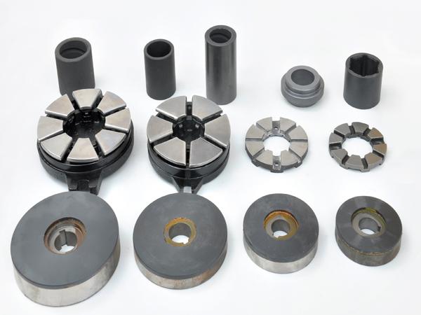 潜水泵扇形块不锈钢止推块铁八块止推可倾滑块复合止推快复合推力块